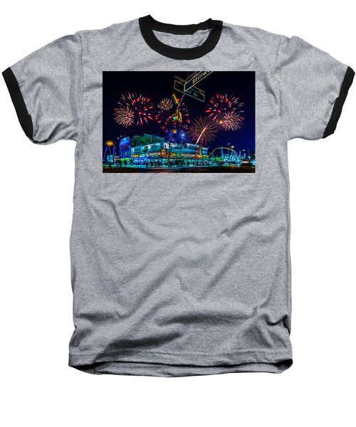 Saturday Night At Coney Island Baseball T-Shirt