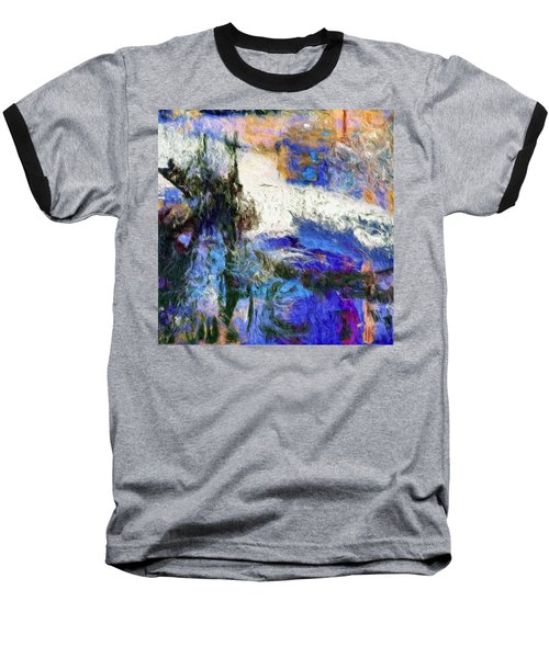 Baseball T-Shirt featuring the painting Sausalito by Dominic Piperata