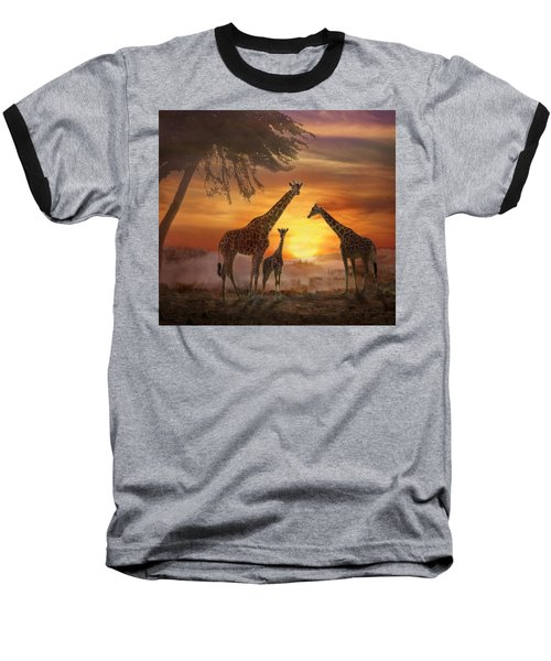 Savanna Sunset Baseball T-Shirt