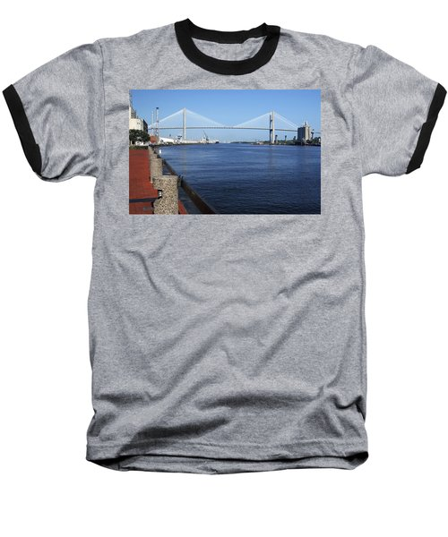 Savannah River Bridge Ga Baseball T-Shirt