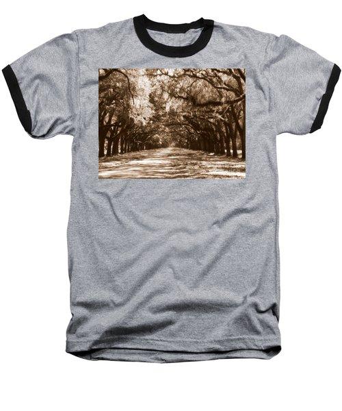 Savannah Sepia - The Old South Baseball T-Shirt