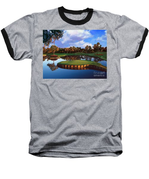 Sawgrass 17th Hole Baseball T-Shirt by Tim Gilliland