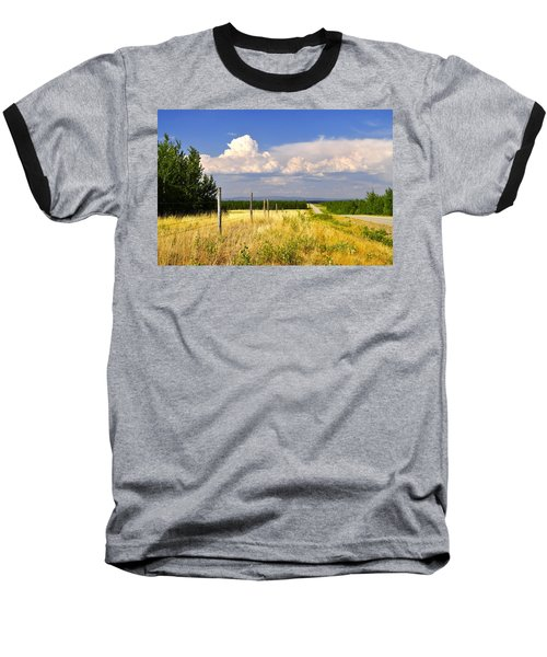 Baseball T-Shirt featuring the photograph Sawmill Creek Road by Cathy Mahnke