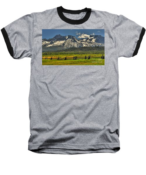 Sawtooth Mountains Baseball T-Shirt