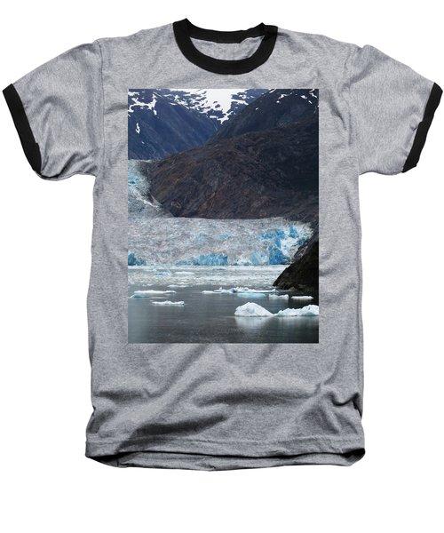 Baseball T-Shirt featuring the photograph Sawyer Glacier Blue Ice by Jennifer Wheatley Wolf