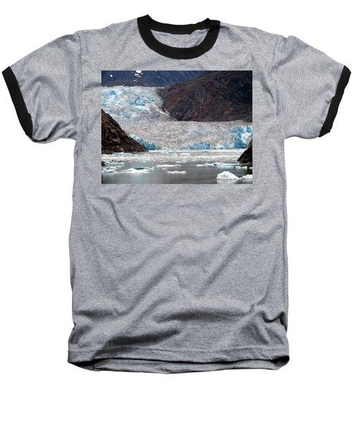 Baseball T-Shirt featuring the photograph Sawyer Glacier by Jennifer Wheatley Wolf