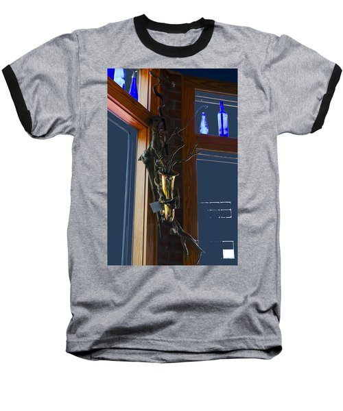 Baseball T-Shirt featuring the photograph Sax At The Full Moon Cafe by Greg Reed