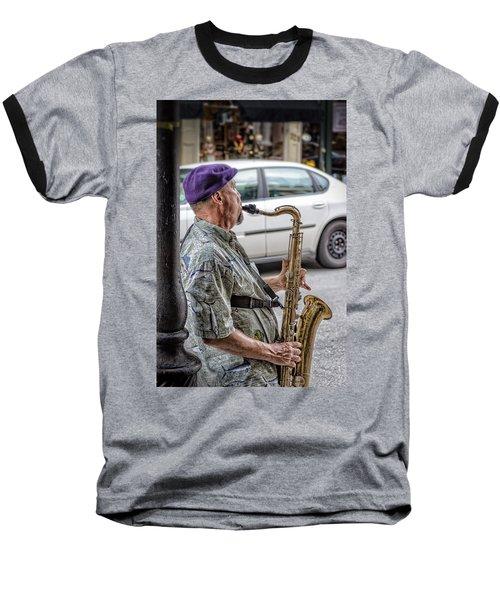Sax In The Street Baseball T-Shirt