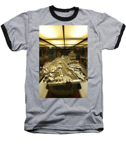 Scale Model Aircraft Carrier Baseball T-Shirt