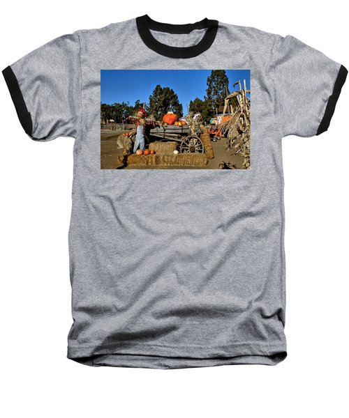 Baseball T-Shirt featuring the photograph Scare Crow by Michael Gordon