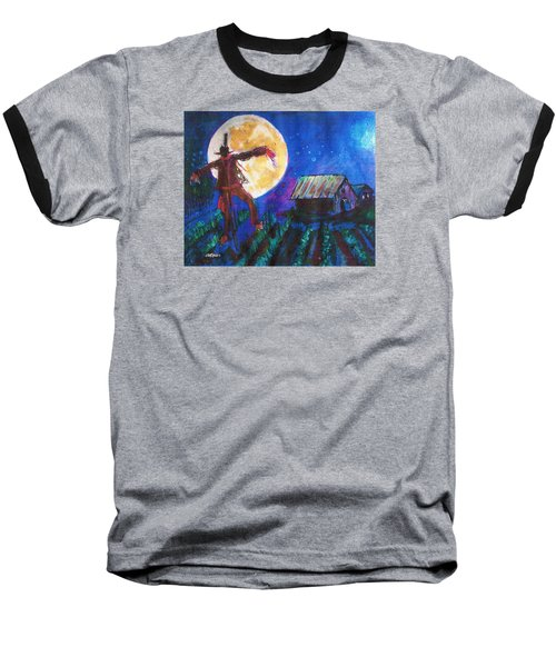 Baseball T-Shirt featuring the painting Scarecrow Dancing With The Moon by Seth Weaver