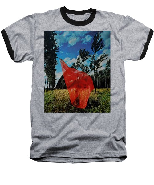 Scarf In The Winds Baseball T-Shirt