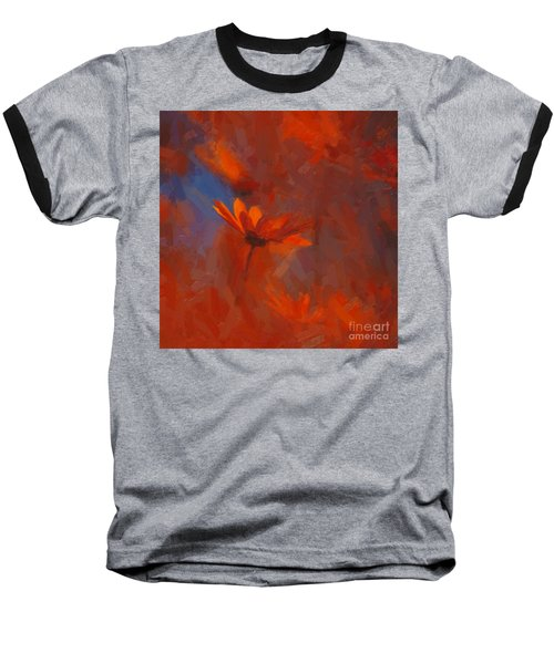 Scarlet Petals  Baseball T-Shirt by Paul Davenport