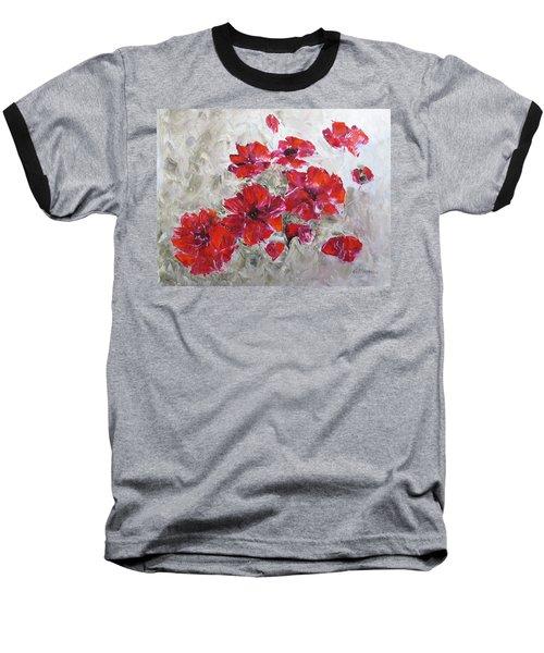 Scarlet Poppies Baseball T-Shirt