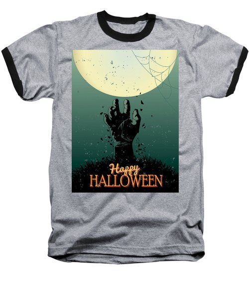 Baseball T-Shirt featuring the painting Scary Halloween by Gianfranco Weiss