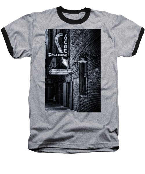 Scat Lounge In Cool Black And White Baseball T-Shirt
