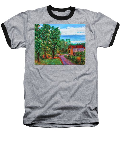 Scene From Giverny Baseball T-Shirt