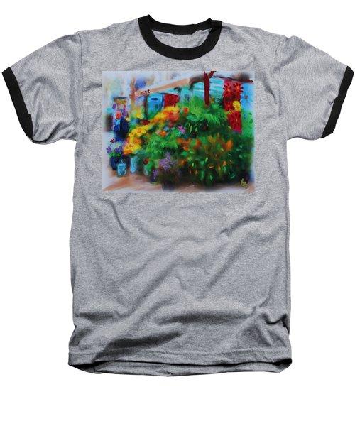 Scene From La Rambla Baseball T-Shirt