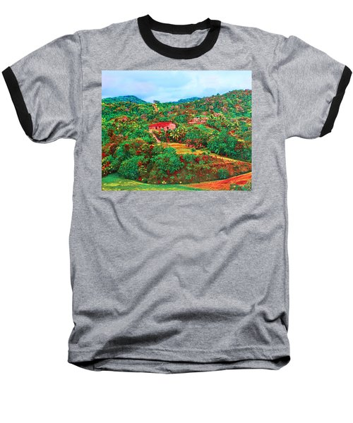 Scene From Mahogony Bay Honduras Baseball T-Shirt