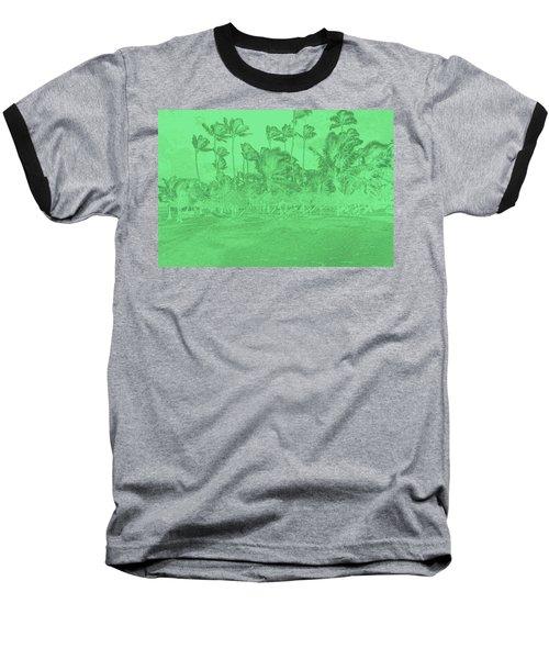 Scene In Green Baseball T-Shirt