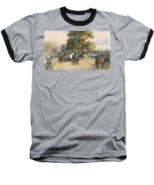 Scene In Hyde Park Baseball T-Shirt by Eugene-Louis Lami