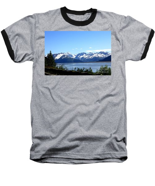 Baseball T-Shirt featuring the photograph Scenic Byway In Alaska by Kathy  White