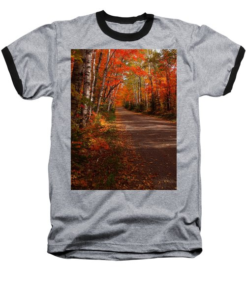 Scenic Maple Drive Baseball T-Shirt by James Peterson