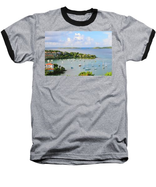 Scenic Overlook Of Cruz Bay St. John Usvi Baseball T-Shirt