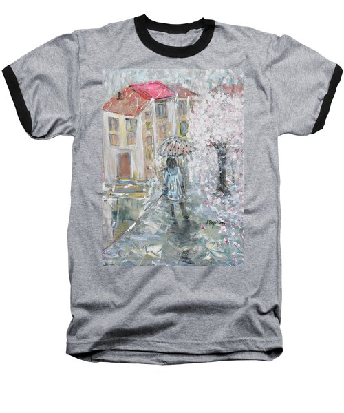 Baseball T-Shirt featuring the painting Scent Of Spring by Evelina Popilian