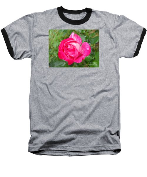 Baseball T-Shirt featuring the photograph Scented Rose by Ramona Matei