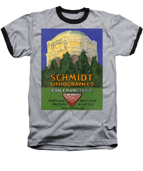 Schmidt Lithograph  Baseball T-Shirt by Cathy Anderson