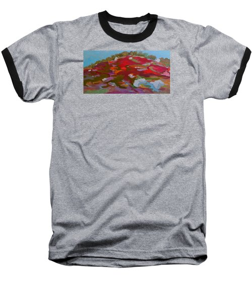 Baseball T-Shirt featuring the painting Schoodic Trail Blueberry Hill by Francine Frank