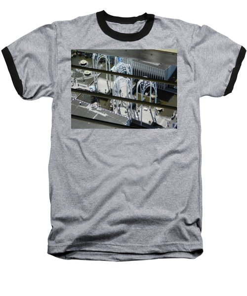 Science From The Top Baseball T-Shirt by David Trotter