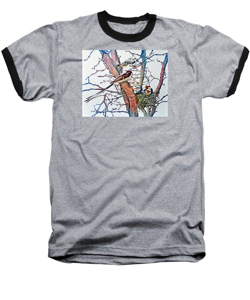 Da149 Scissortailed Flycatchers By Daniel Adams Baseball T-Shirt