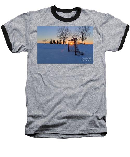 Scoring The Sunset Baseball T-Shirt by Darcy Michaelchuk