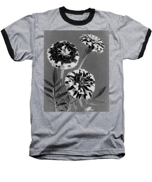 Scotch-stripe Marigolds Baseball T-Shirt