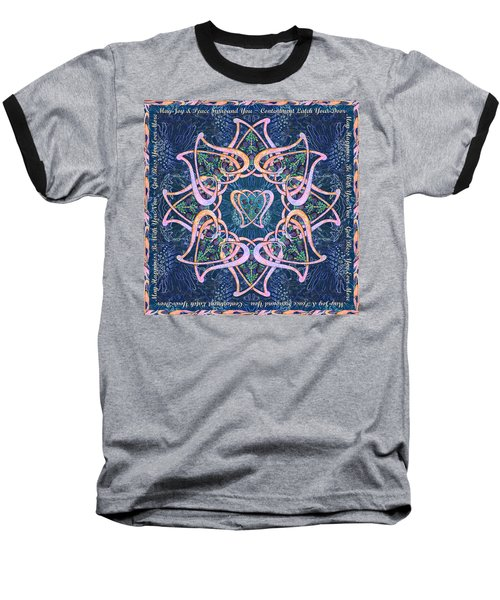 Scottish Blessing Celtic Hearts Duvet Baseball T-Shirt by Michele Avanti