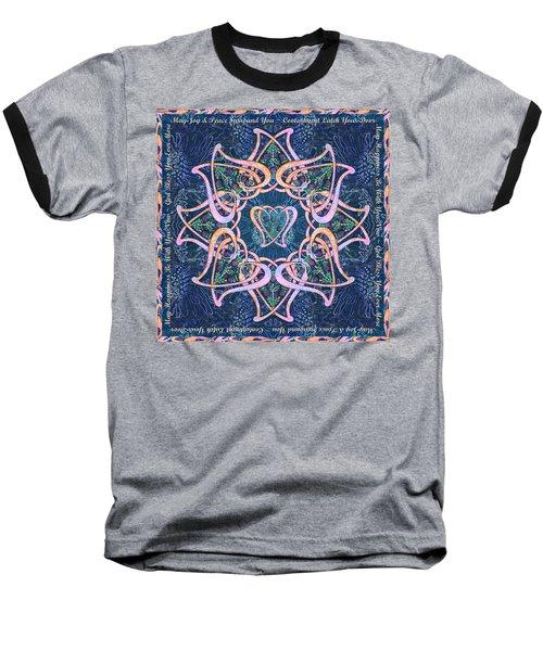 Scottish Blessing Celtic Hearts Duvet Baseball T-Shirt