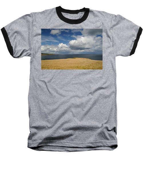 Scottish Coastal Wheatfield Baseball T-Shirt by Jeremy Voisey