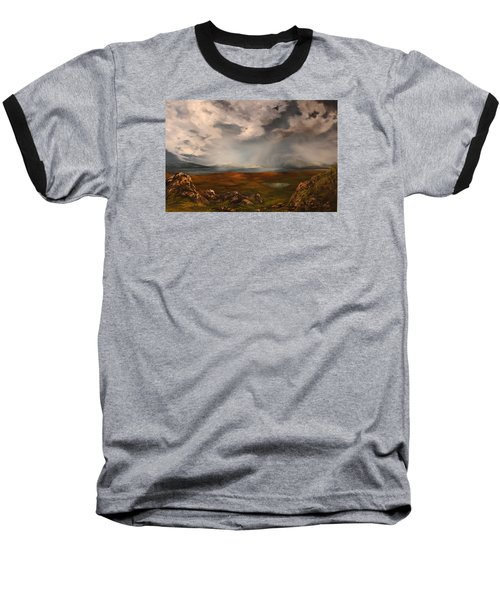 Scottish Loch Baseball T-Shirt by Jean Walker