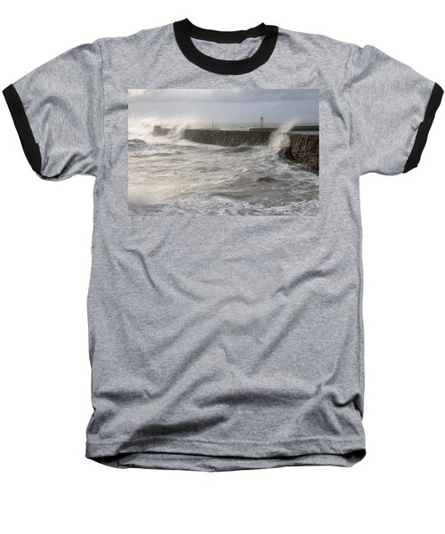 Scottish Sea Storm Baseball T-Shirt by Jeremy Voisey