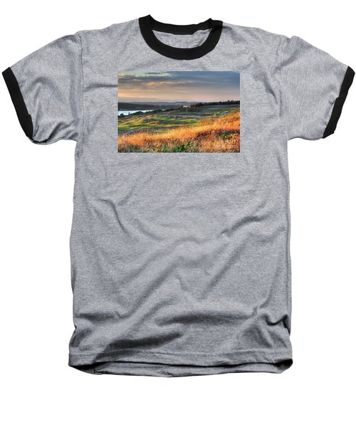 Scottish Style Links In September - Chambers Bay Golf Course Baseball T-Shirt by Chris Anderson