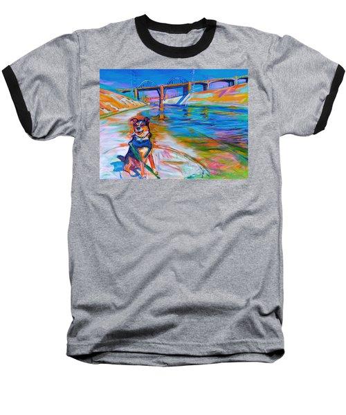 Scout The River Guard Baseball T-Shirt by Bonnie Lambert