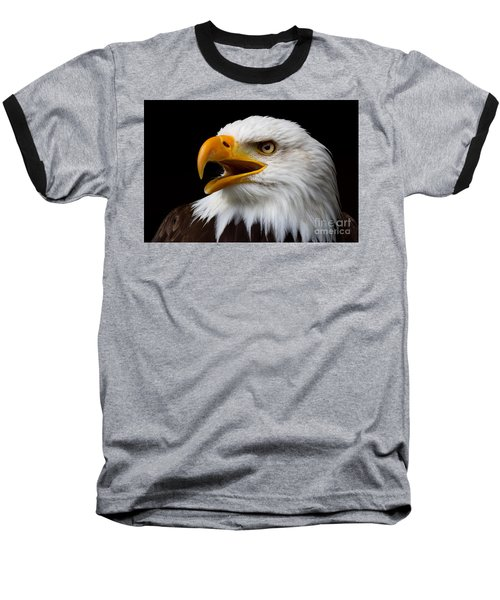 Screaming Bald Eagle Baseball T-Shirt