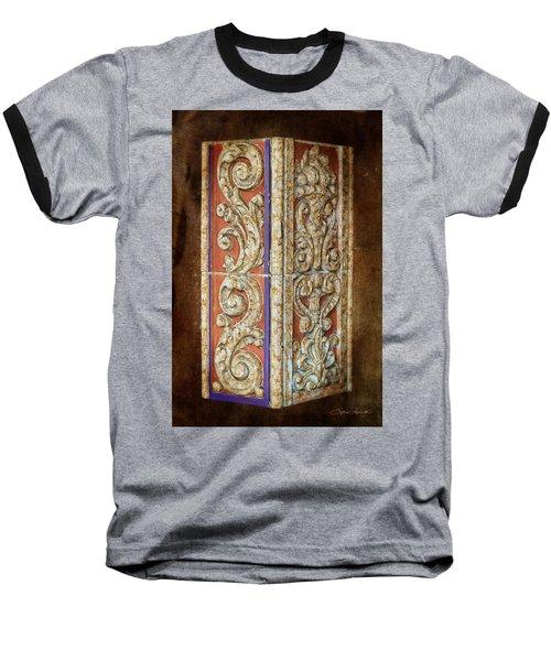 Scrolled Column Baseball T-Shirt