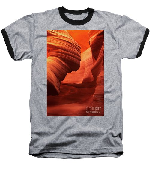 Baseball T-Shirt featuring the photograph Sculpted Sandstone Upper Antelope Slot Canyon Arizona by Dave Welling