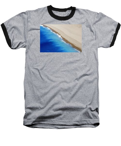 Sea And Sand Baseball T-Shirt by Wendy Wilton