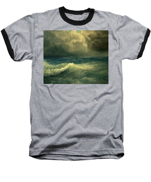 Sea And Sky Baseball T-Shirt by Mikhail Savchenko