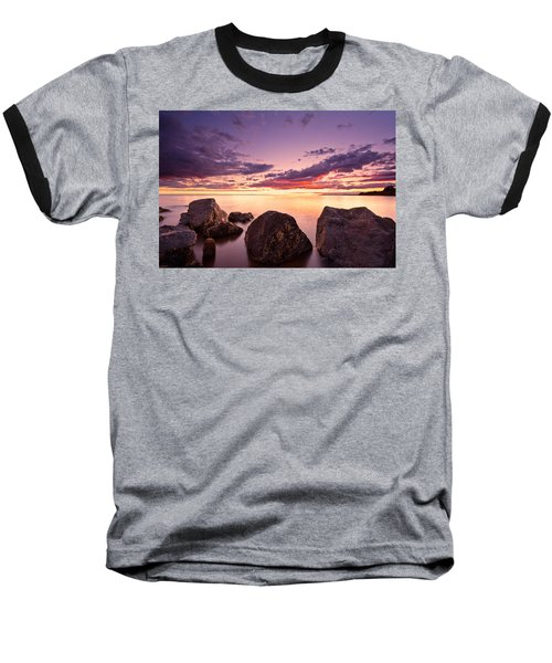 Sea At Sunset The Sky Is In Beautiful Dramatic Color Baseball T-Shirt