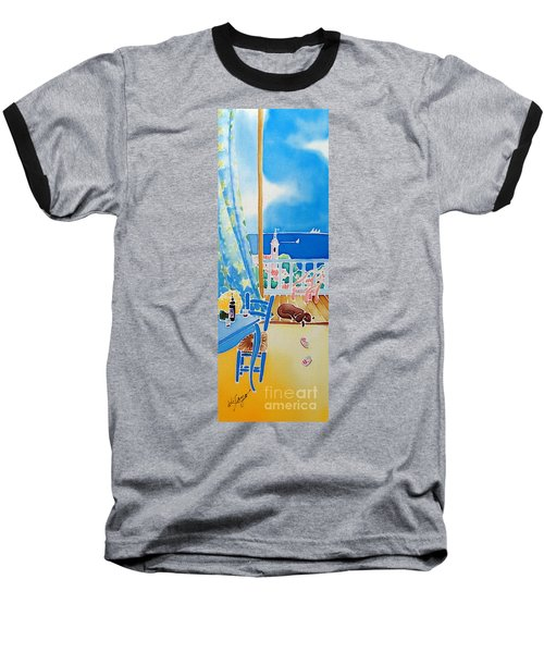 Baseball T-Shirt featuring the painting Sea Breeze by Hisayo Ohta